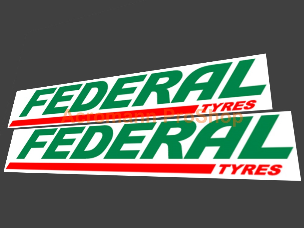 Federal Tyres 6inch Decal (Style#1) x 2 pcs